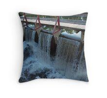 Water over Canal Locks, Lambertville Throw Pillow