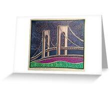 Verrazano Bridge, Bay Ridge, Brooklyn, New York Greeting Card