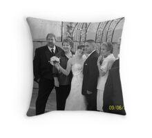 Jesus & Amanda Black and White Throw Pillow