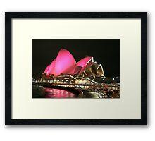 Pink Sails Framed Print