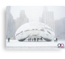 Bean Covered in Snow Canvas Print