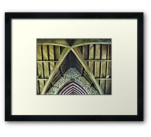 Magnifying the Rafters at St.Pauls Framed Print