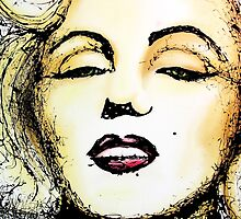 Marilyn Monroe Drip Art by DFStudio