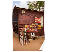 Route 66 Garage and Pump Poster