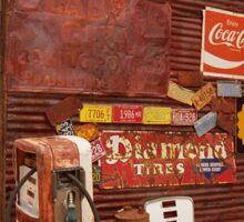 Route 66 Garage and Pump Sticker