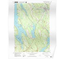 Maine USGS Historical Map Mechanic Falls 102736 1995 24000 Poster