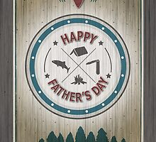 Father's Day Rustic Wilderness Card by NestToNest