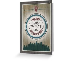 Father's Day Rustic Wilderness Card Greeting Card