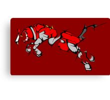 Red Voltron Lion Cubist Canvas Print