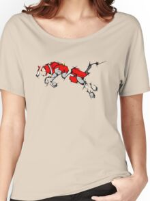 Red Voltron Lion Cubist Women's Relaxed Fit T-Shirt