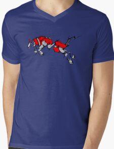 Red Voltron Lion Cubist Mens V-Neck T-Shirt
