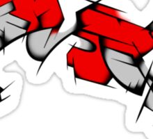 Red Voltron Lion Cubist Sticker