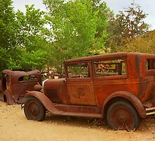 Route 66 Vintage Auto by Frank Romeo