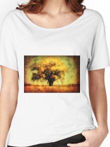 Nebraska Cotten Wood 2 Women's Relaxed Fit T-Shirt