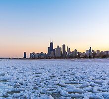 Chicago Skyline at the North  by anjoaguilar