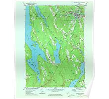Maine USGS Historical Map Mechanic Falls 806898 1981 24000 Poster
