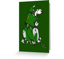 Green Voltron Lion Cubist Greeting Card