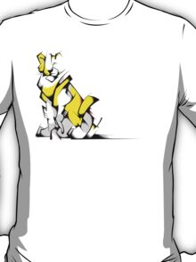 Yellow Voltron Lion Cubist T-Shirt