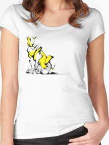 Yellow Voltron Lion Cubist Women's Fitted Scoop T-Shirt