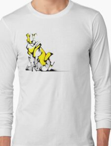 Yellow Voltron Lion Cubist Long Sleeve T-Shirt