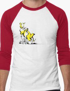 Yellow Voltron Lion Cubist Men's Baseball ¾ T-Shirt