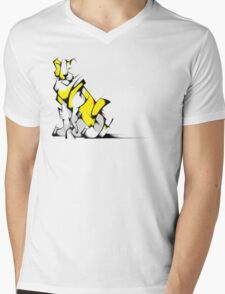 Yellow Voltron Lion Cubist Mens V-Neck T-Shirt