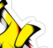 Yellow Voltron Lion Cubist Sticker