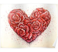 rose of hearts Poster