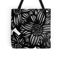 Oblivion Flowers Blue Yellow White Tote Bag