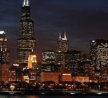 Chicago at Night by Marija