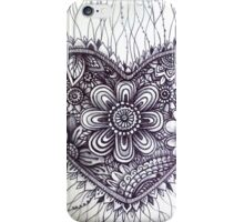 henna style tattoo heart iPhone Case/Skin
