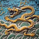 Dragon tiles on screen wall, by cascoly