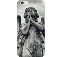 Stone Angel Prayer iPhone Case/Skin
