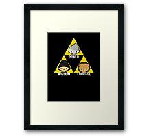 Triforce Of Oz Framed Print