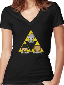 Triforce Of Oz Women's Fitted V-Neck T-Shirt