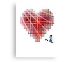 Minecraft Heart Canvas Print