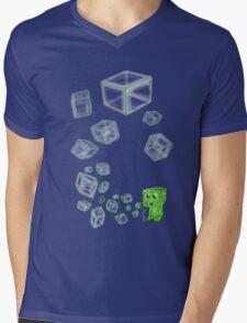 Creeper bubbles Mens V-Neck T-Shirt
