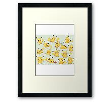 Pikachu Collage Framed Print