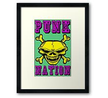 PUNK NATION Framed Print