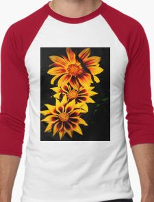 Stunning Flower Men's Baseball ¾ T-Shirt