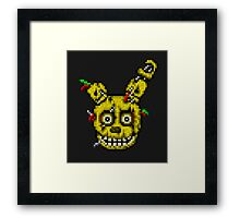 Five Nights at Freddy's 3 - Pixel art - SpringTrap / Golden Bonnie / Rotten Bonnie Framed Print