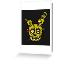 Five Nights at Freddy's 3 - Pixel art - SpringTrap / Golden Bonnie / Rotten Bonnie Greeting Card