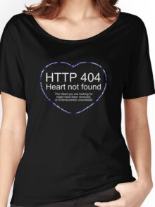 404 - Heart not found Women's Relaxed Fit T-Shirt