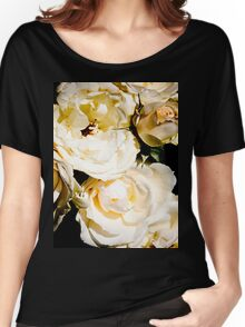 Beautiful White Roses Women's Relaxed Fit T-Shirt