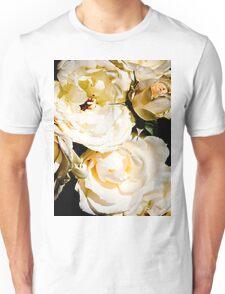 Beautiful White Roses Unisex T-Shirt