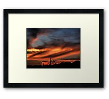 Smoke and Fire Framed Print