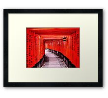 Through the Gates (Kyoto, Japan) Framed Print