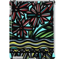 Moue Flowers Yellow Red Blue iPad Case/Skin