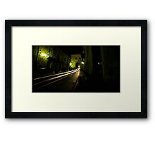 Time Travel Through The Streets Of Sant Agata Framed Print