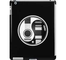 White and Black Acoustic Electric Guitars Yin Yang iPad Case/Skin
